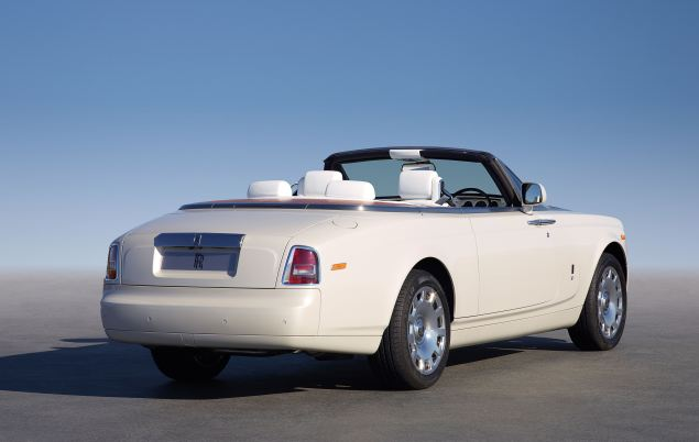 The elegant, open Rolls-Royce Phantom Series II Drophead Coupé