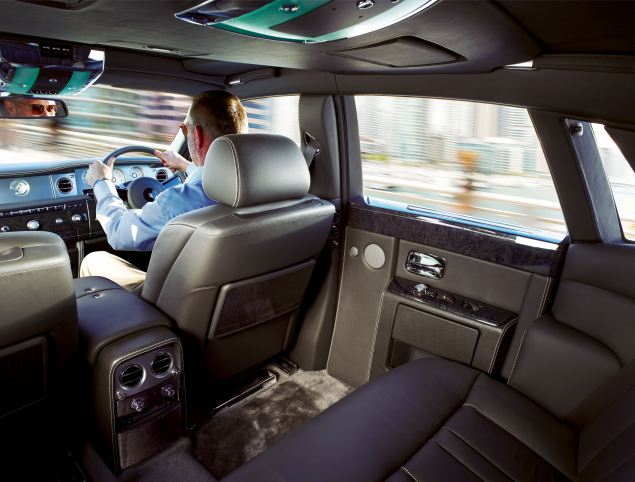 Luxurious interior of the Rolls-Royce Phantom Series II saloon