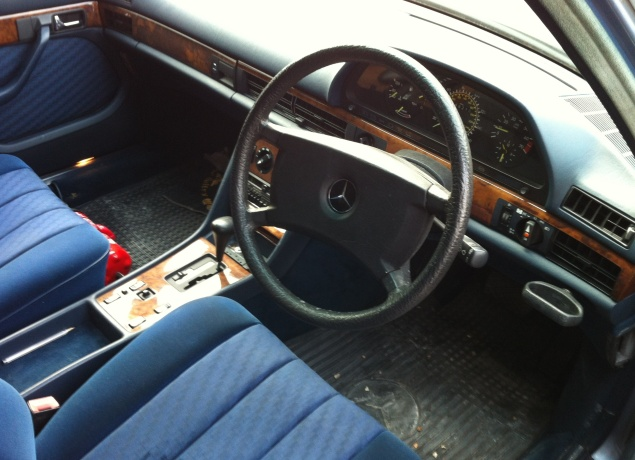 First production airbag sits inside a large steering wheel