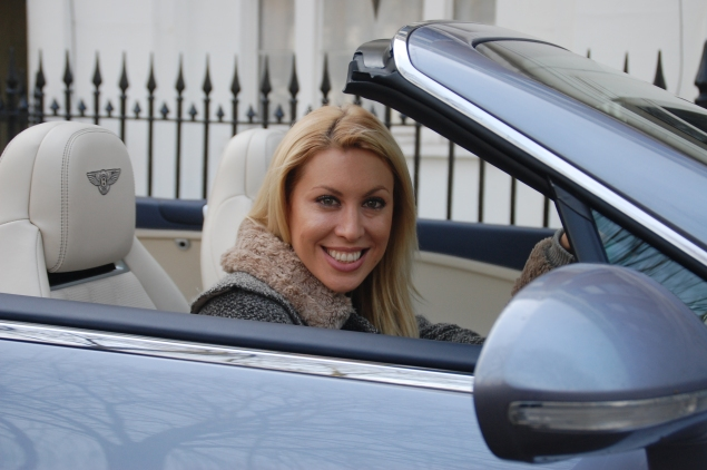 Rachael Downie - television presenter and now Bentley enthusiast