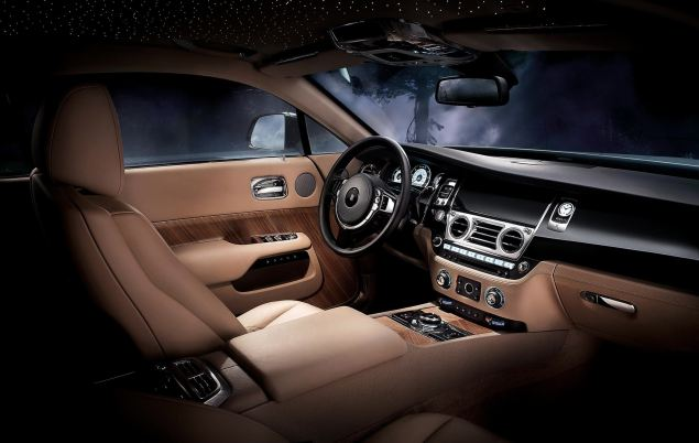 Wraith's interior is naturally luxurious but driver focused
