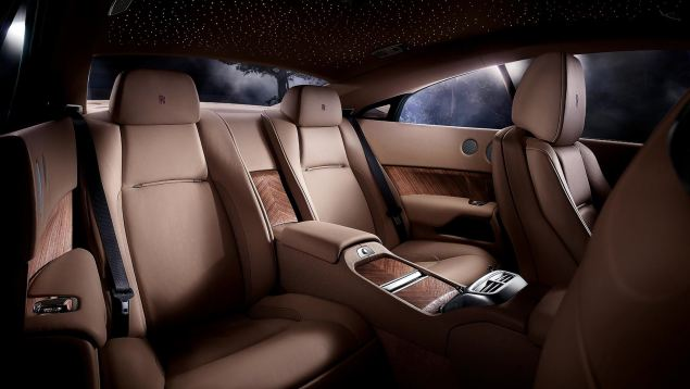 With space for two adults in the back, the Wraith is a comfortable cross continent cruiser