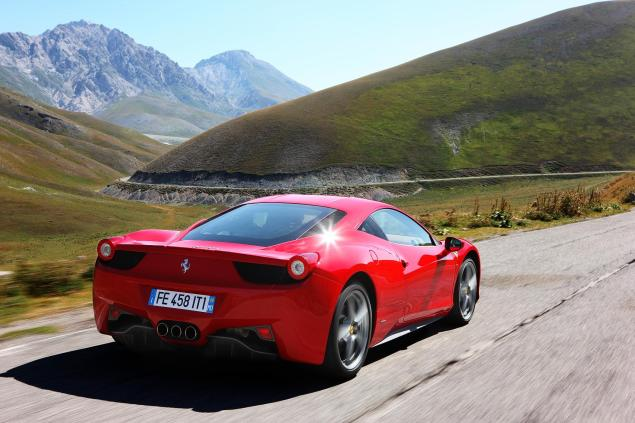 This is most people's view of the Ferrari 458 Italia