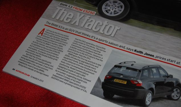 My debut in the pages of Autocar