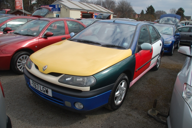 Such a dazzling coat of many colours... Who ordered the patchwork Renault Laguna?