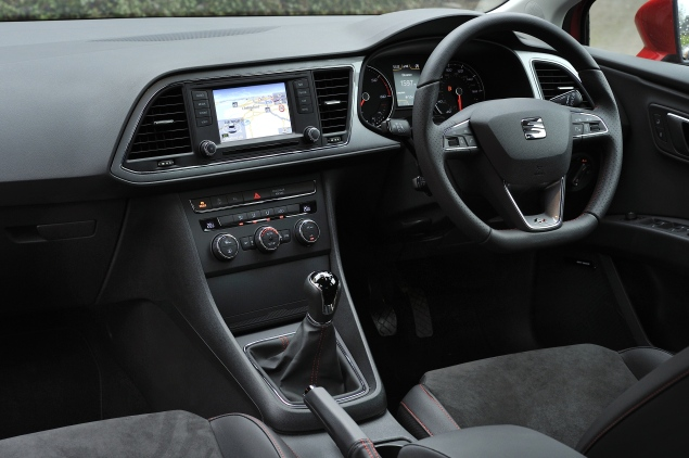 Sporty touches for the Leon FR's well-made but sober interior