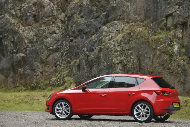 The rear of the latest SEAT Leon is more to Liam Bird's liking