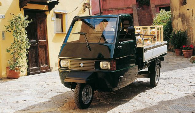 Modern three-wheelers like Piaggio's Ape are more than welcome