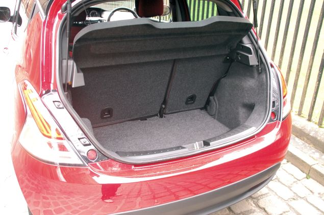 The Ypsilon's boot's a decent size and can be easily extended with split/fold rear seats