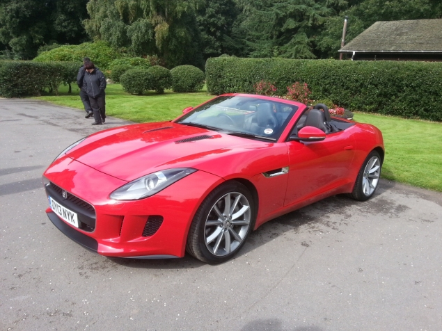 Jaguar Land Rover JLR Experience Day September 2013 Hampton Manor Keith Jones Oliver Hammond - F-Type V6