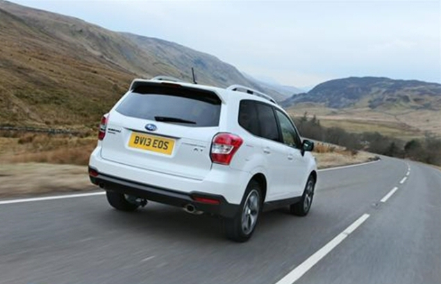 Subaru Forester D XC road test review Liam Bird Keith Jones Petroleum Vitae blog writer - photo - rear