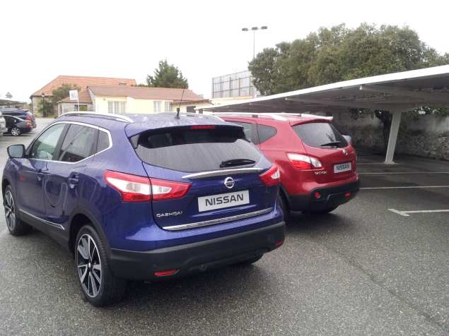 Rear photo - All new Nissan Qashqai 2014 European launch Madrid Nick Johnson Keith Jones Petroleum Vitae