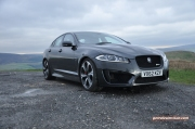 2014-04 Jaguar XFR-S saloon road test review by Oliver Hammond of Keith Jones Petroleum Vitae blogger - photo - embsay front 34a