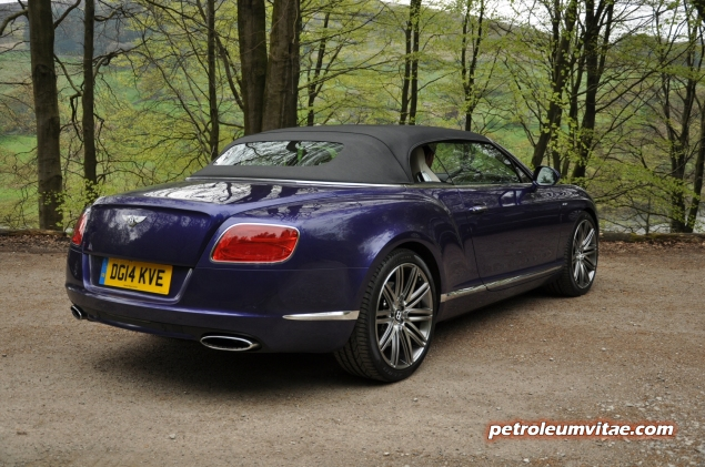 2014 Bentley Continental GTC W12 Speed convertible road test review by Oliver Hammond blogger Keith Jones Petroleum Vitae - photo - rear 34a