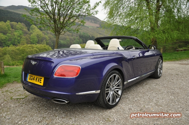 2014 Bentley Continental GTC W12 Speed convertible road test review by Oliver Hammond blogger Keith Jones Petroleum Vitae - photo - rear 34e