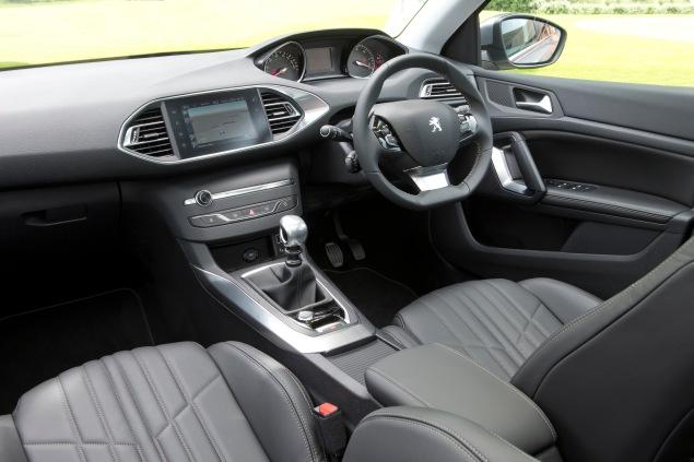 Peugeot 308SW UK launch interior Sam Sheehan