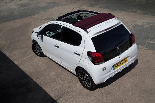 Peugeot 108 TOP! UK launch Sam Sheehan roof