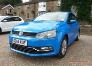 2014 August Volkswagen VW Tour media driving Wood Hall Wetherby first impressions road test drive review - photo - Polo 1.4 TDI 75PS front