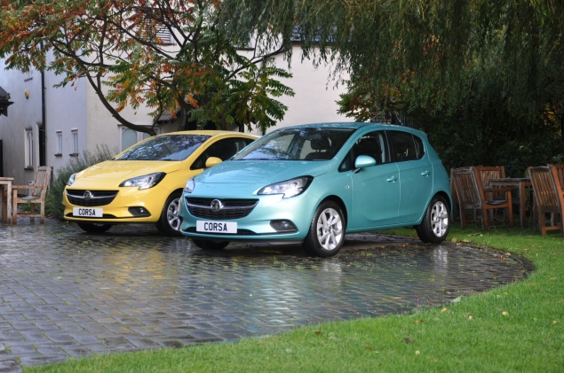 New 2015 Vauxhall Opel Corsa UK launch first drive impressions road test review 1 litre 1.4 ECOTEC handling Fiesta interior quality Polo - photo - 90PS Peppermint yellow green
