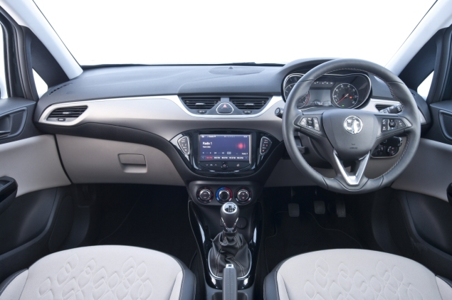 New 2015 Vauxhall Opel Corsa UK launch first drive impressions road test review 1 litre 1.4 ECOTEC handling Fiesta interior quality Polo - photo - front cabin