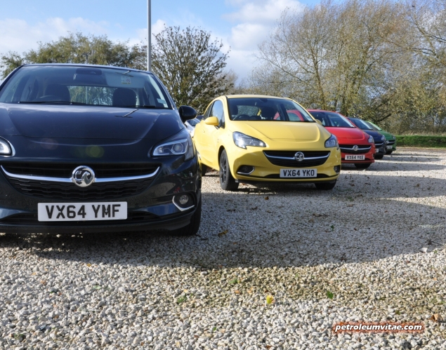 New 2015 Vauxhall Opel Corsa UK launch first drive impressions road test review 1 litre 1.4 ECOTEC handling Fiesta interior quality Polo - photo - press lineup
