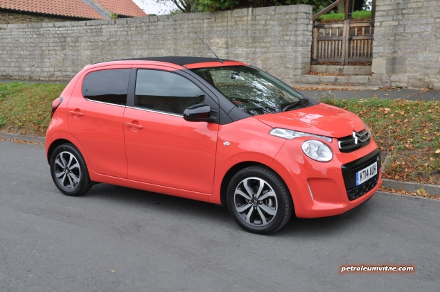 SMMT North 2014 first impressions drive road test review - Citroen C1 PureTech 82 Flair - photo -front 34