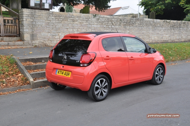 SMMT North 2014 first impressions drive road test review - Citroen C1 PureTech 82 Flair - photo -rear 34