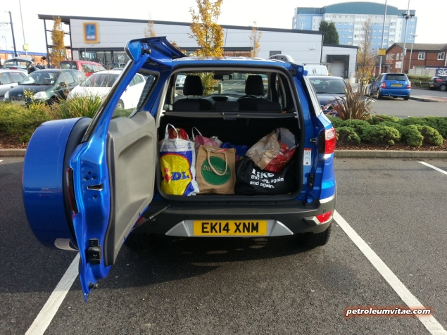 2014 Ford EcoSport 1-litre EcoBoost Titanium UK road test review - photo - boot space