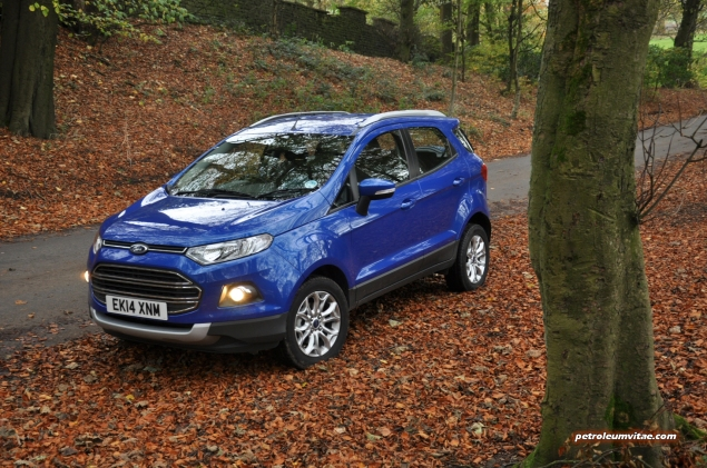 2014 Ford EcoSport 1-litre EcoBoost Titanium UK road test review - photo - front j