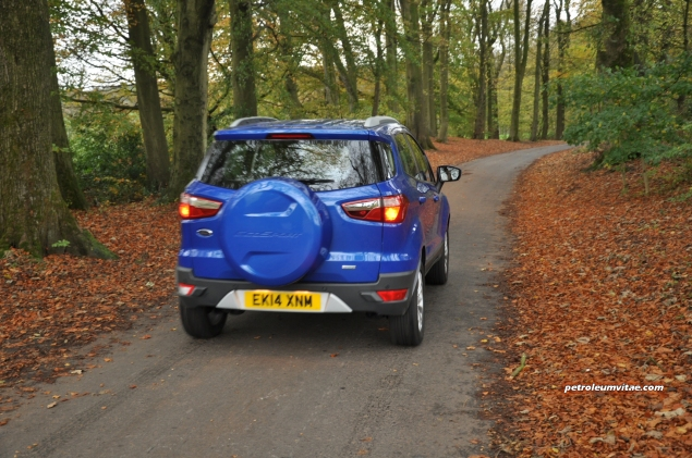 2014 Ford EcoSport 1-litre EcoBoost Titanium UK road test review - photo - rear a