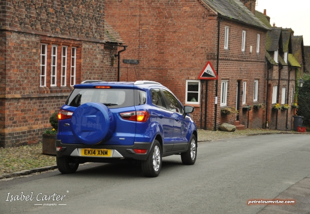 2014 Ford EcoSport 1-litre EcoBoost Titanium UK road test review - photo - rear d