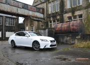 2014 Lexus GS300h-f F Sport road test review blogger - photo - front 34c