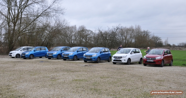 2015 January Suzuki Celerio city car UK launch automotive motoring blogger writer review by Oliver Hammond - photo - lineup