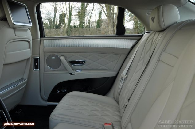 2014-15 Bentley Flying Spur V8 Mulliner road test review report freelance automotive motoring blogger journalist writer Oliver Hammond - photo wallpaper - interior rear