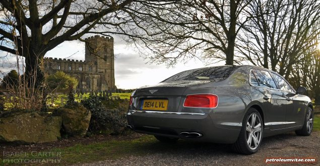2014-15 Bentley Flying Spur V8 Mulliner road test review report freelance automotive motoring blogger journalist writer Oliver Hammond - photo wallpaper - rear 34