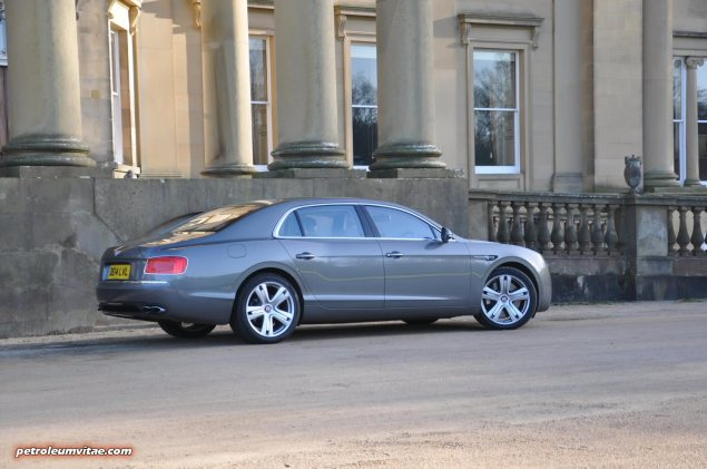 2014-15 Bentley Flying Spur V8 Mulliner road test review report freelance automotive motoring blogger journalist writer Oliver Hammond - photo wallpaper - rear Broughton Hall 9
