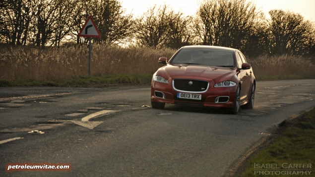 2014 2015 Jaguar XJR full road test review report blogger automotive writer freelance published motoring journalist Oliver Hammond photographer Isabel Carter - driving 1