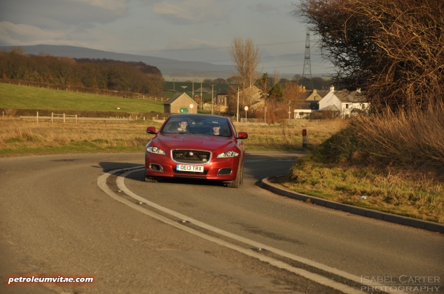 2014 2015 Jaguar XJR full road test review report blogger automotive writer freelance published motoring journalist Oliver Hammond photographer Isabel Carter - driving 8