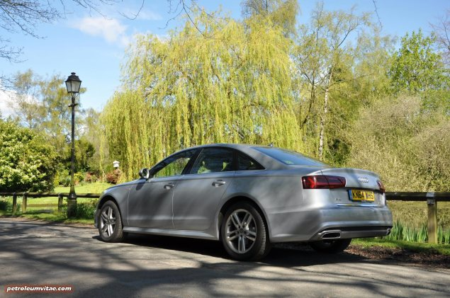 2015 Audi A6 Ultra 2.0 TDI S tronic full road test review Manchester blogger motoring automotive journalist Oliver Hammond, wallpaper photo - rear