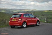 2015 new third gen Skoda Fabia hatchback 1.4 TDI SE full road test review evaluation motoring journalist Oliver Hammond - wallpaper photo - rear 34b