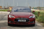 Tesla Model S 85 rear full road test review freelance journalist blogger Oliver Hammond - wallpaper image gallery - estuary front DRLs