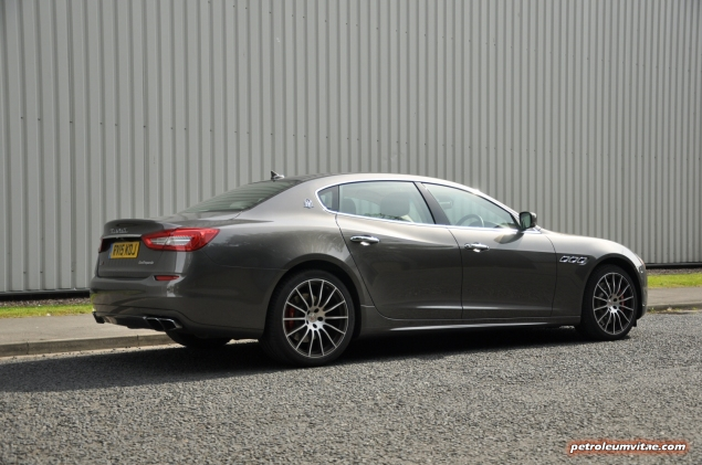 2014-15 6th generation Maserati Quattroporte GTS road test review report compare rivals blog journalist Hammond gallery photos wallpaper spec - rear 34