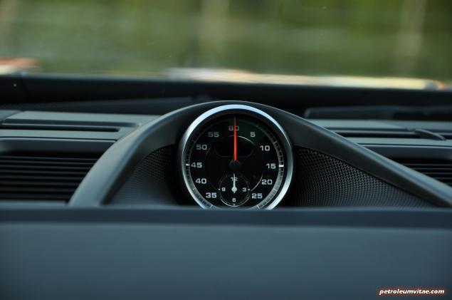 2015 Porsche Panamera Diesel road test review comparison journalist blogger Oliver Hammond magazine - wallpaper photo - Sport Chrono stopwatch clock
