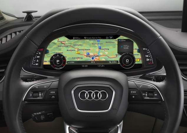 New Audi Q7 3.0 TDI quattro S line 272 PS tiptronic road test review photo wallpaper - interior 1
