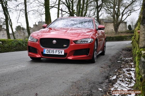 Jaguar XE S road test review - image, front 02