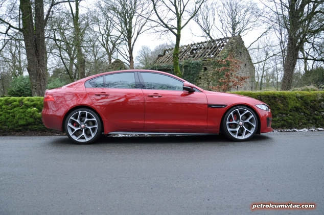 Jaguar XE S road test review - image, side