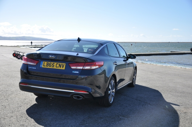 All-new Kia Optima 4 DCT road test review Oliver Hammond - rear 34
