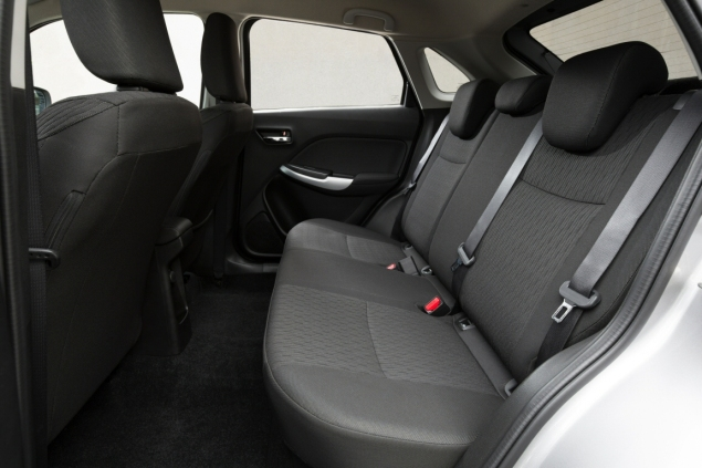 Suzuki Baleno Boosterjet manual SZ5 full road test review Hammond - back seats