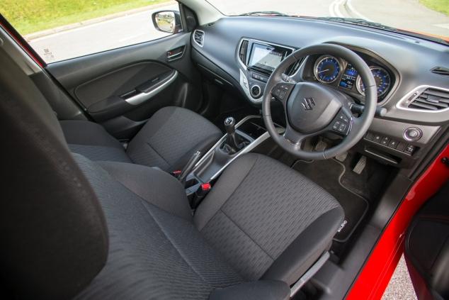 Suzuki Baleno Boosterjet manual SZ5 full road test review Hammond - dashboard
