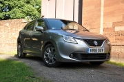 Suzuki Baleno Boosterjet manual SZ5 full road test review Hammond - front 34
